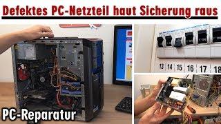 PC-Netzteil - Sicherung fliegt raus - Schalter ohne Funktion - PC-Reparatur