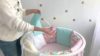 Обзор комплекта бортиков в кроватку со съемными чехлами