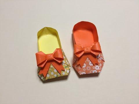 Origami,High heels(shoes)كعب عالي 종이접기-구두,Cao gót,ハイヒール,Высокие каблуки,신발,하이힐,漂亮的高跟鞋折纸,关键漂亮女生都喜欢