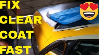 How To Fix Bad Clear Coat Spots Fast