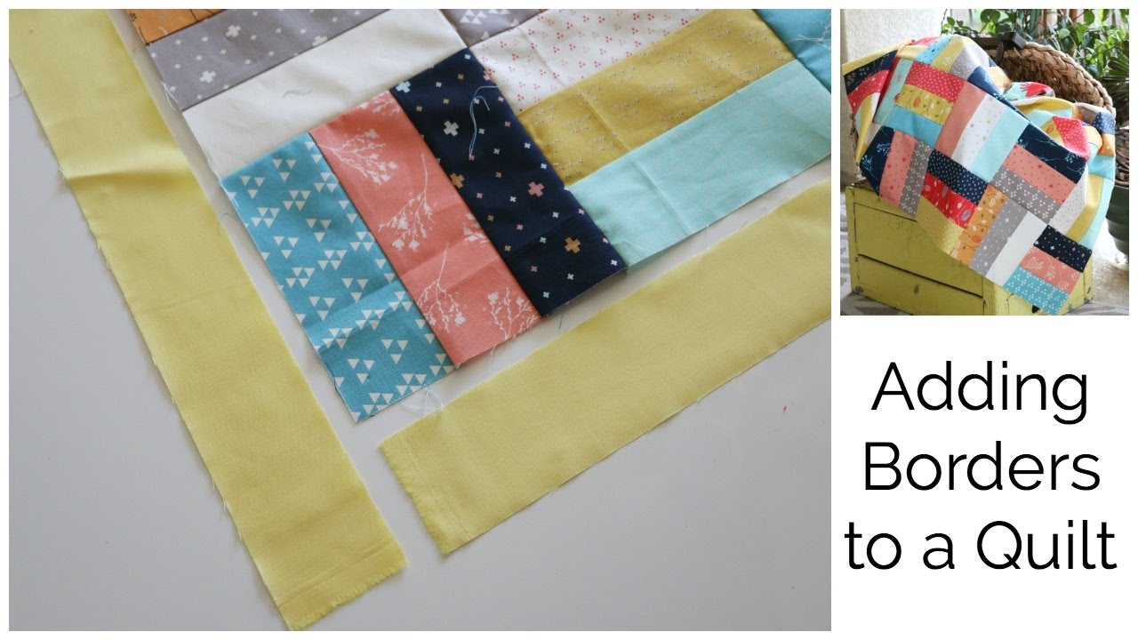 How to Add a Border to a Quilt Top - YouTube : quilt border - Adamdwight.com