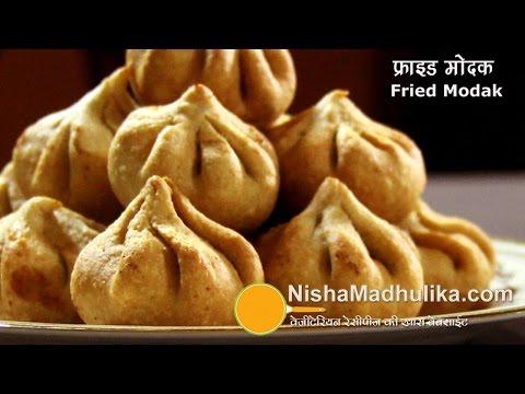 Fried Modak | how to make madak Traditional fried modak - Ganesh Chaturthi Special