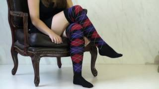 UK Tights - Tiffany Quinn Argyle Over The Knee Socks