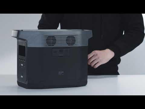 에코플로우 덕유항공(주) 공식판매사 EcoFlow DELTA, 에코 플로우 델타 파워뱅크 배터리 전면부 소개, USB-A, USB-Fash-Charge, USB-C