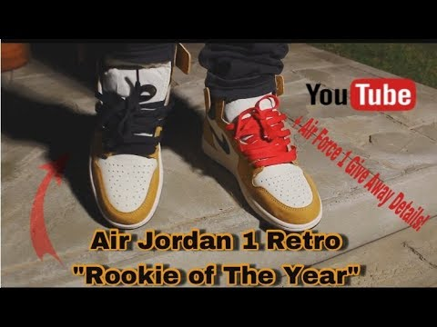 "48a26a5ba45c87 Air Jordan 1 Retro ""Rookie of The Year"" + ON FEET! - YouTube"