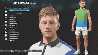 AO Internationale Tennis - Charakter-Anpassung & Spieler Wählen