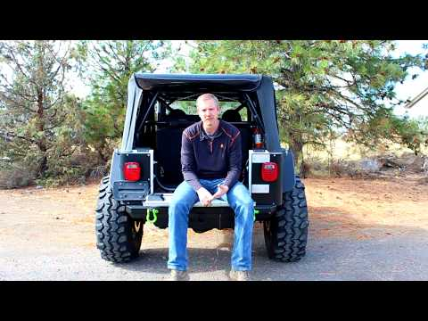 swag off road jeep wrangler 87-06 tj & lj fold down tailgate conversion kit  - youtube