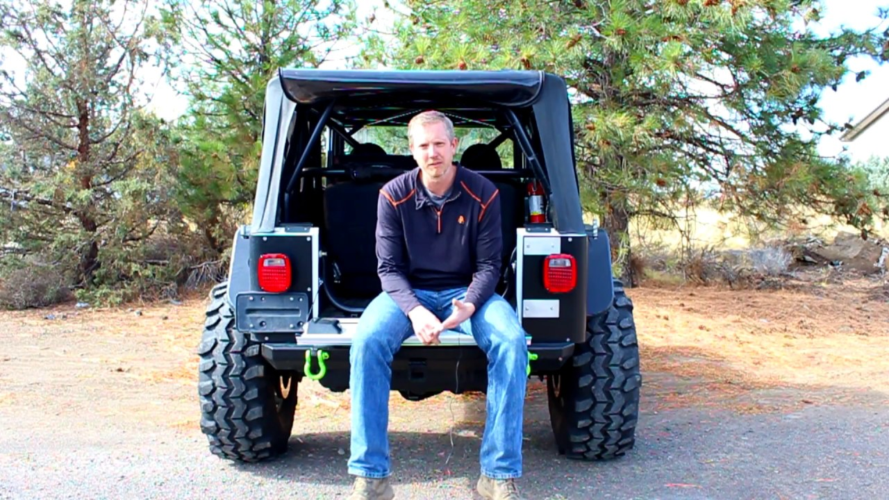 SWAG Off Road Jeep Wrangler 87-06 TJ & LJ Fold Down Tailgate Conversion Kit  - YouTubeYouTube