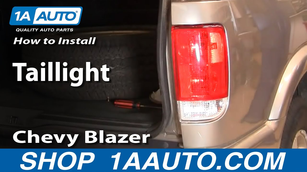 How To Replace Tail Light 95 04 Chevy Blazer S10 Youtube