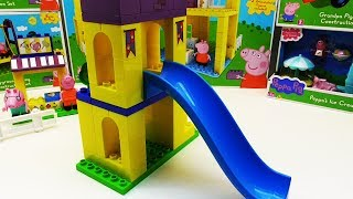 Peppa Pig English Episodes Puzzle Blocks Construction Set Compilation