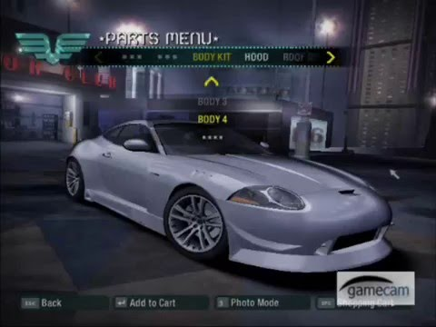 Need For Speed Carbon Jaguar XK Customization and Race