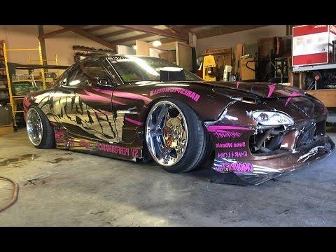 TWINCHARGED 1JZ VVTI RX7 FD DRIFT CAR CHECK!!!!!