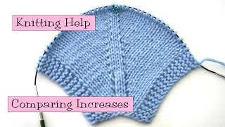 Knitting Help - Comparing Increases