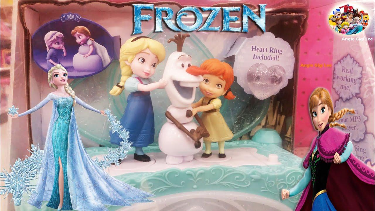 New 2015 Disney Frozen Elsa Anna Olaf Snowman Jewelry Box Musical
