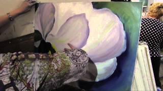 Научиться рисовать большой цветок, живопись для начинающих, художник Игорь Сахаров