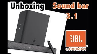 Sound bar JBL 3.1 unboxing