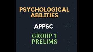 Download Psychological Abilities - APPSC Group 1 Prelims | Emotional Intelligence, Social Intelligence Mp3 and Videos