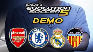 Pro Evolution Soccer 5 Demo!