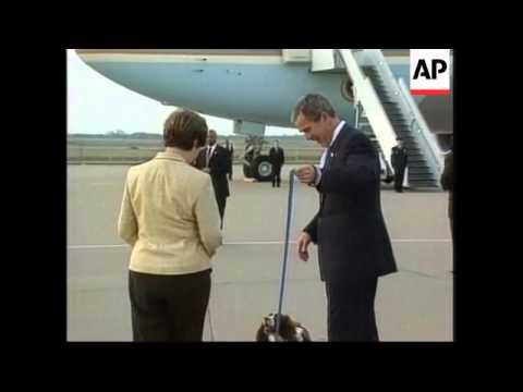 President Arrives In Texas