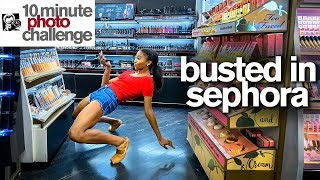 Viral Ballerina Kicked Out of Sephora...TWICE!  *10 Minute Photo Challenge*