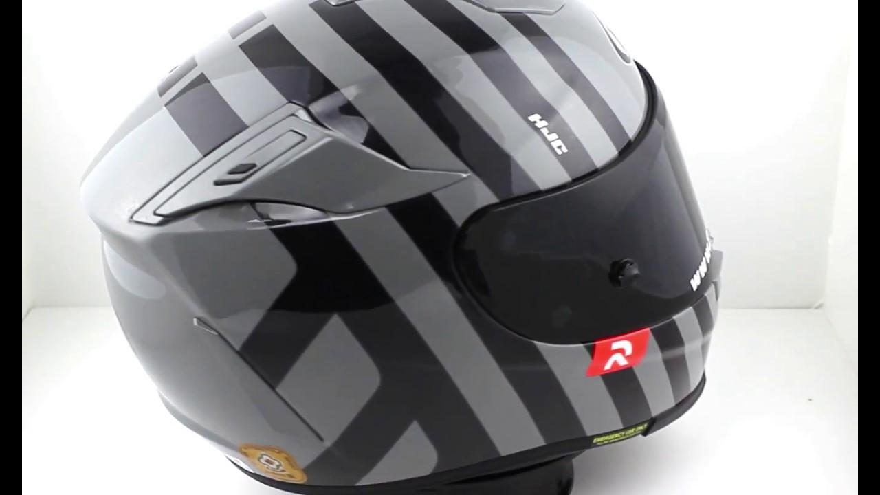 HJC RPHA 70 Forvic Black Motorcycle Helmet - YouTube b2e924f2b3e
