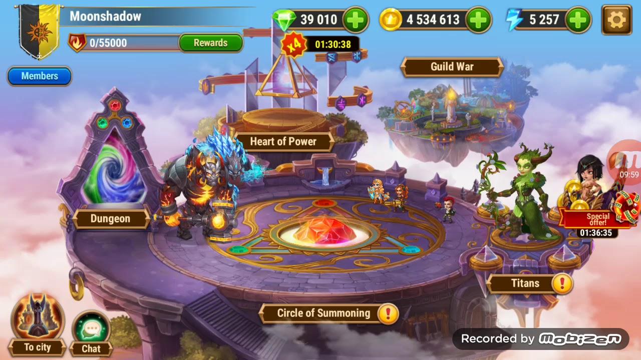 Hero Wars: summoning and titan upgradeing