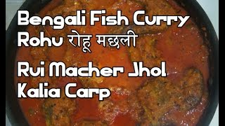 Bengali Fish Curry Recipe - Rohu रोहू मछली Rui Macher Jhol - Kalia