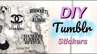DIY TUMBLR LAPTOP STICKERS // No Sticker Paper