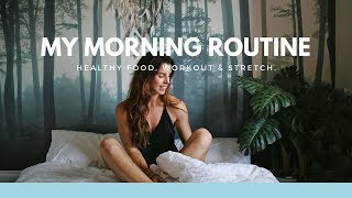 MY HEALTHY MORNING ROUTINE! FOOD, SKINCARE + WORKOUT!