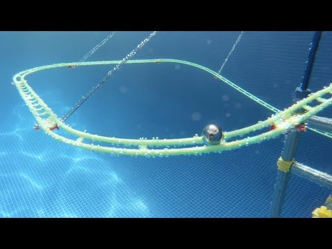 Swimming Pool Marble Run with Underwater Elevators!