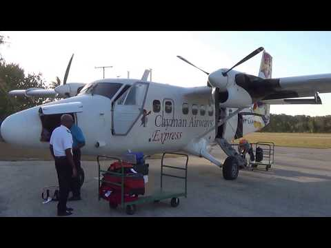 Flying to Little Cayman from Grand Cayman Island April 2014