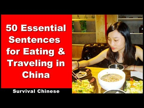 Survival Chinese - 50 Essential Sentences for Eating & Traveling in China - Beginner Chinese Phrases