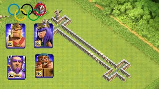 All Heroes Speed Test Marathon   Clash Of Clans   Private Server