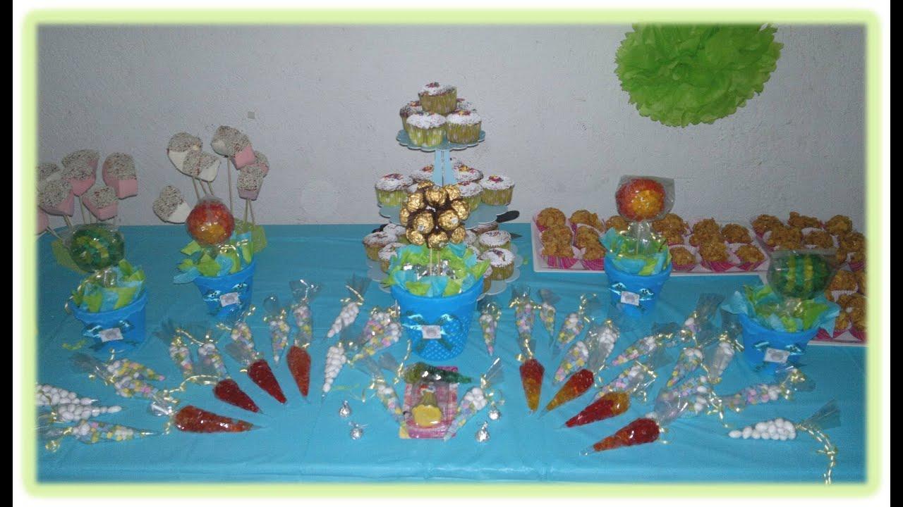 Mesa de postres fiestas youtube - Postres para mesa de dulces ...