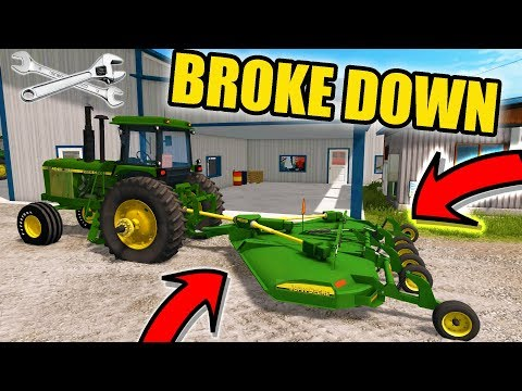 FARMING SIMULATOR 2017 | NEW BATWING MOWER & IT'S ALREADY BROKE.... AND PLANTING | EP #34
