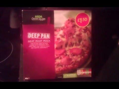 Asda Deep Pan Meat Feast Pizza Youtube