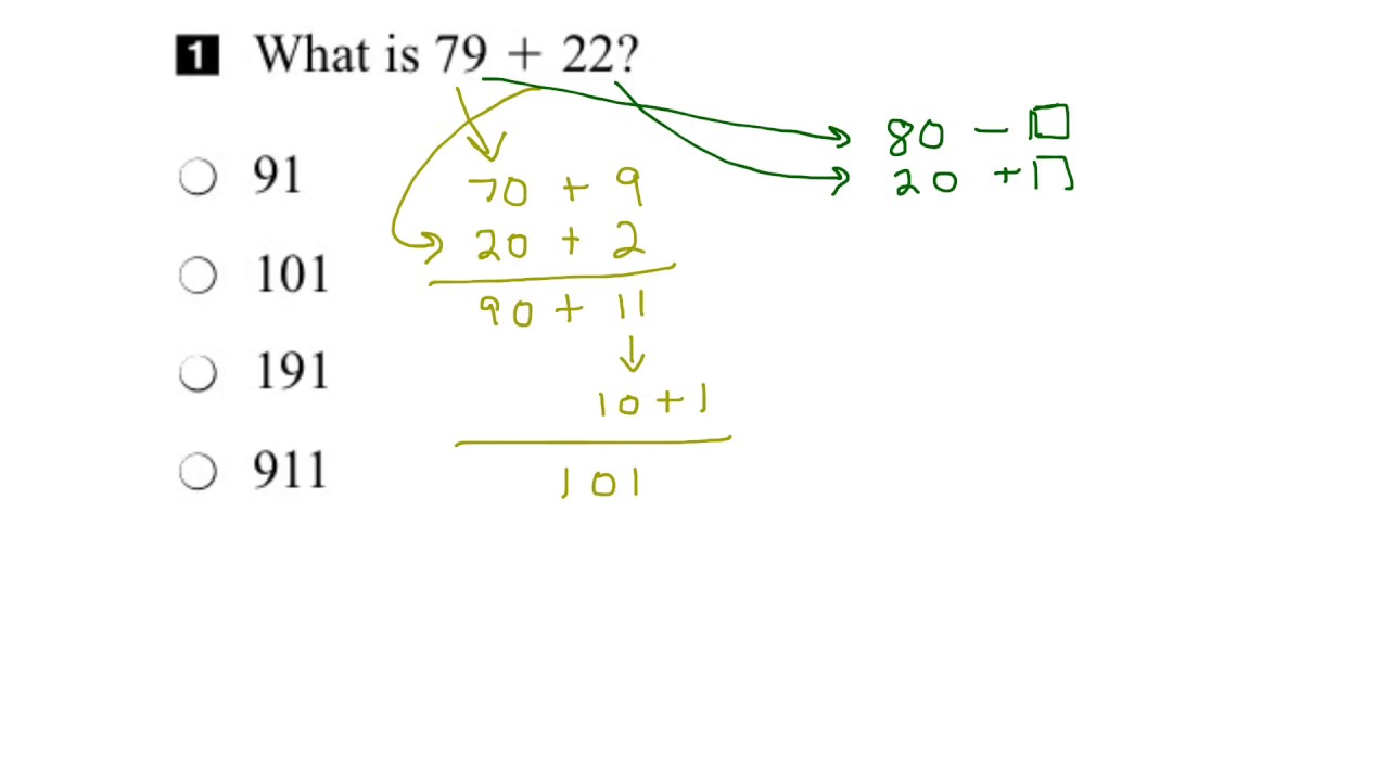 EQAO Grade 3 Math 2016 Question 1 Solution - YouTube