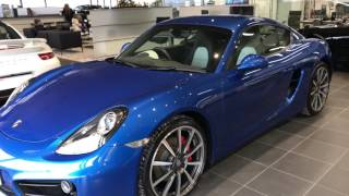 Collecting my new Porsche Cayman S