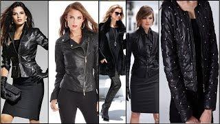 КУРТКИ 2018 💜 Кожаная чёрная куртка -модный тренд 💜 Куртка-косуха Базовый гардероб