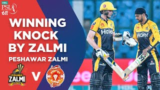 PSL2021 | Winning Knock By Peshawar Zalmi | Islamabad vs Peshawar | Match 10 | HBL PSL 6 | MG2E