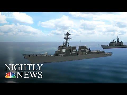 U.S. Navy Fires Warning Shots At Iranian Military Boat | NBC Nightly News