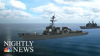 U.S. Navy Fires Warning Shots At Iranian Military Boat | NBC Nightly News