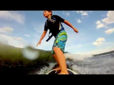 Crazy talented 8 year old surfing - GoPro at SkiWakeSurf