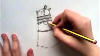 How to draw a cartoony dalek (easy)