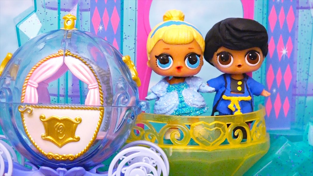 LOL Surprise Babies Turn Into Characters From Cinderella Story ! Toys and Dolls Fun for Kids | SWTAD