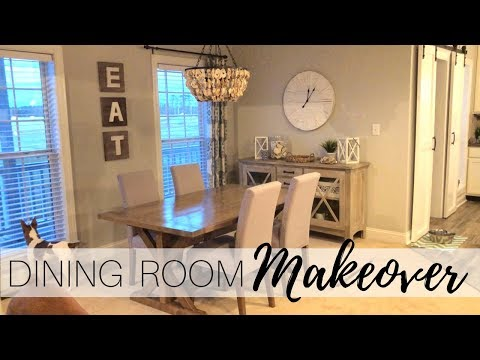Entire Dining Room Makeover | Decorate With Me | Clean With Me | Coastal Fixer Upper Style
