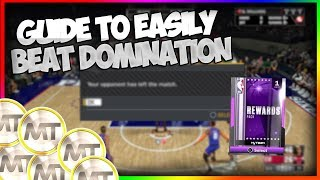NBA2K18 MYTEAM DOMINATION BEST GUIDE TO EASILY BEAT IT!! - HOW TO GET ENOUGH MT FOR DOMINATION