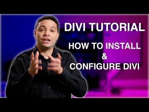 Divi 3.0 Tutorial 1: How To Install And Configure The Divi Theme. Divi Tutorial 2017 -2018