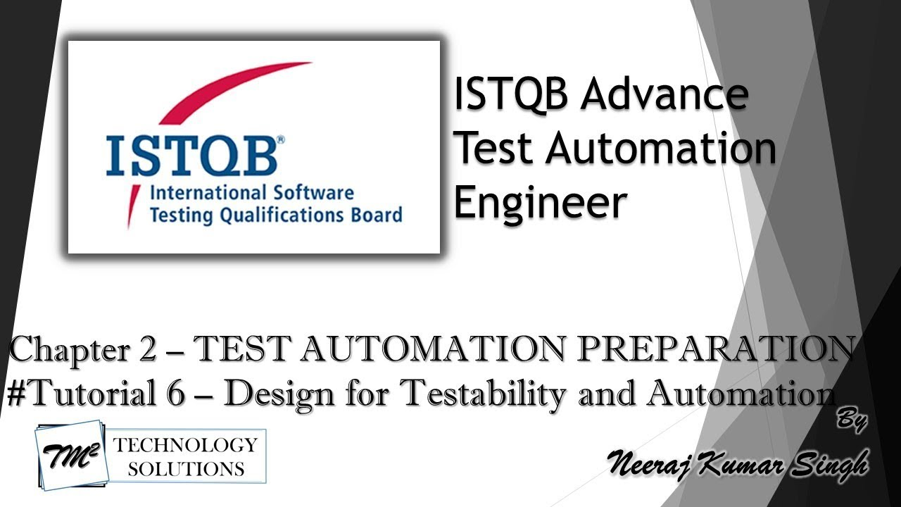 Istqb Test Automation Engineer 2 3 Design For Testability And Automation Youtube