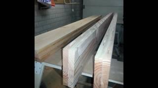 Eetkamer tafel gemaakt van Douglas hout